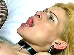 Lewd blond ts gets hard drilling