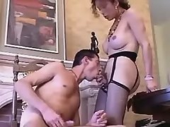 Happy tgirl and lover play sexy games on fireplace