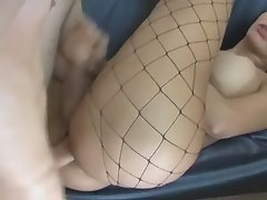 Amazing latina shemale gets fucked with boyfriend